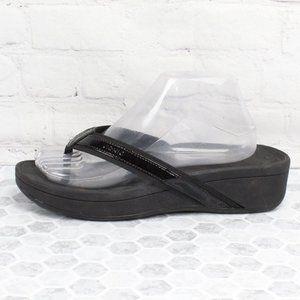 VIONIC High Tide Black Flip flop Thong Sandal Sz 9